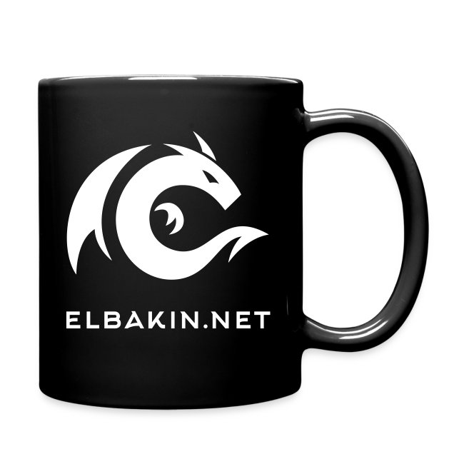 Mug céramique noir avec logo blanc