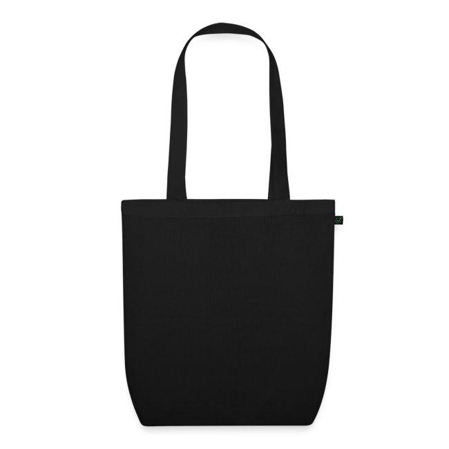 Sac coton bio noir grand logo blanc