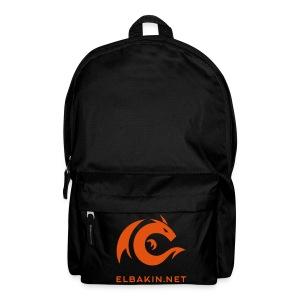 Sac à dos noir logo orange - Sac à dos
