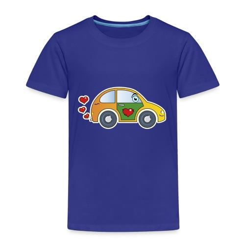 Auto Spielzeug Herzen lustig fröhlich bunt Kinder - Kinder Premium T-Shirt