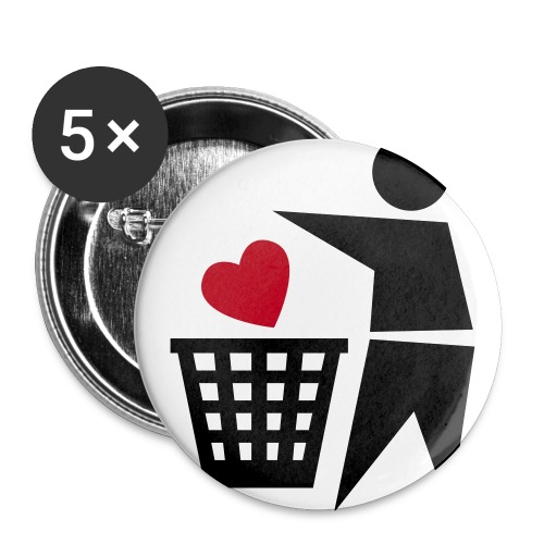 Buttonpack 2 - Buttons groot 56 mm (5-pack)