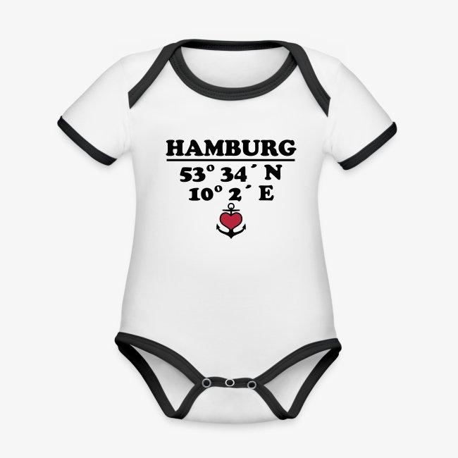 HAMBURG KoordinatenLängengrad Breitengrad Baby Body