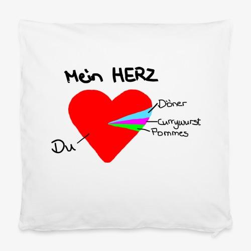 Kissenbezug 40 x 40 cm Herz Tortendiagramm DEU1 - Kissenbezug 40 x 40 cm