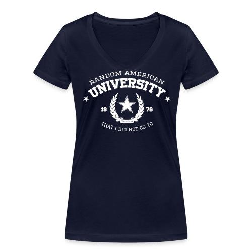 University vrouwen v-hals bio - Vrouwen bio T-shirt met V-hals van Stanley & Stella