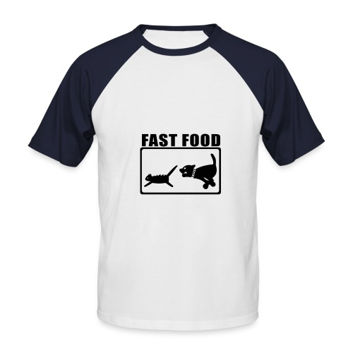 Fast food baseball shirt - Men's Baseball T-Shirt