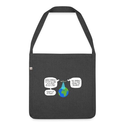 Sac Bandoulière Invasion Extraterrestre - Sac bandoulière 100 % recyclé
