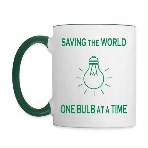 One bulb at a time - Contrasting Mug