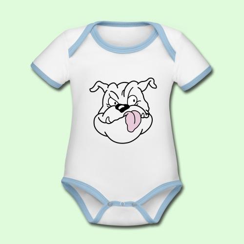 Ernest, la tête - Body Bébé bio contrasté manches courtes