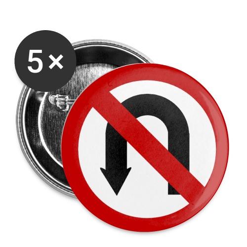 Omkeren verboden - Buttons klein 25 mm (5-pack)
