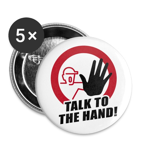 Talk tot the hand - Buttons klein 25 mm (5-pack)