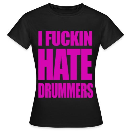 black and fucsia t shirt - Woman - Women's T-Shirt