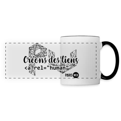 Créons des liens - Sombre - Tasse - Mug panoramique contrasté et blanc