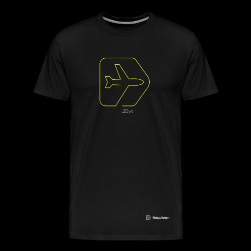 Männer-Shirt 20yrs Jubiläums Edition Neon Line - Männer Premium T-Shirt