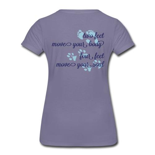 two feet, four feet - Frauen Premium T-Shirt