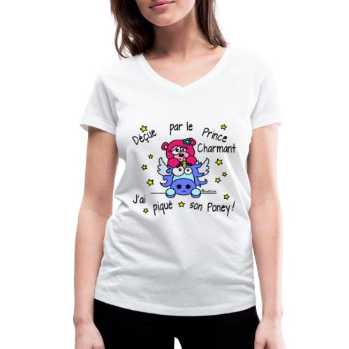 T-shirt col V Femme Licorne, Déçue par le Prince Charmant - T-shirt bio col V Stanley & Stella Femme