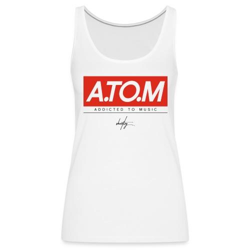 A.TO.M wht tank wmn - Frauen Premium Tank Top