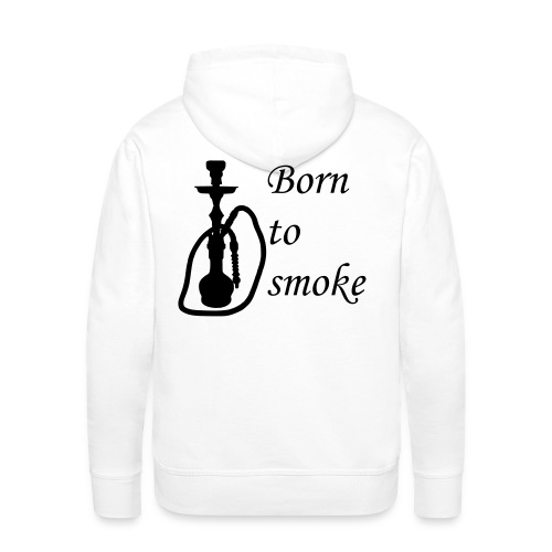 Kapuzenpullover Born to smoke - Männer Premium Hoodie