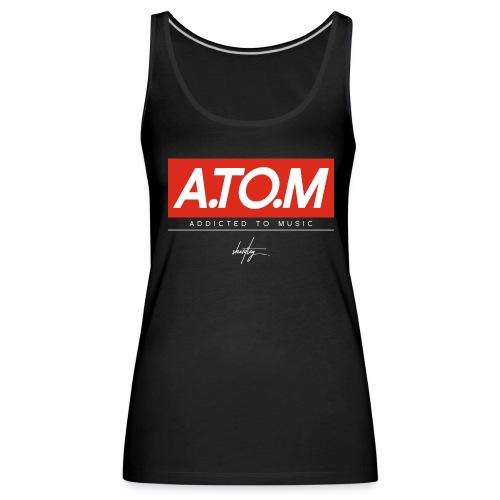A.TO.M blck tank wmn - Frauen Premium Tank Top
