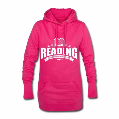 Reading is dreaming with open eyes - Hoodie-Kleid - Hoodie-Kleid
