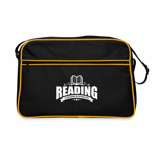 Reading is dreaming with open eyes - Retro Tasche - Retro Tasche