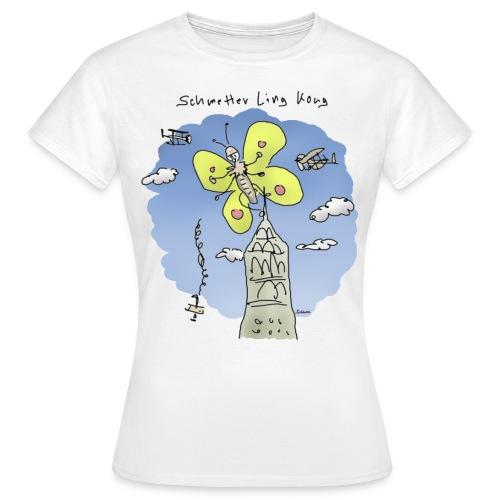 Schmetter Ling Kong (girl) - Frauen T-Shirt