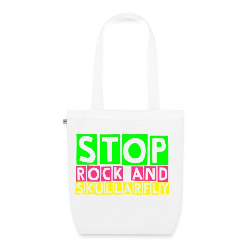 Stop Rock And Skullarfly Bag - EarthPositive Tote Bag