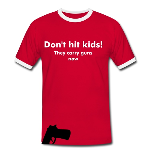 Don't hit kids - Mannen contrastshirt
