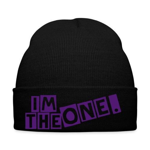 Hat Black & Purple - Winter Hat