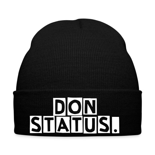 HAT DON STATUS Black & White - Winter Hat