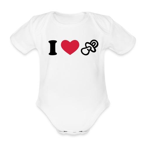 du petit love chupete - Body orgánico de maga corta para bebé