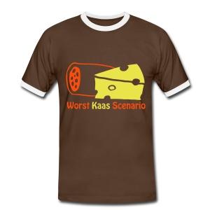 Worst Kaas Scenario - Mannen contrastshirt