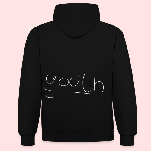 Youth | Black-Style - Kontrast-Hoodie