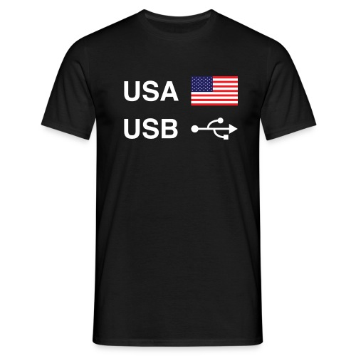 USA vs USB (Dark Colours) - Men's T-Shirt