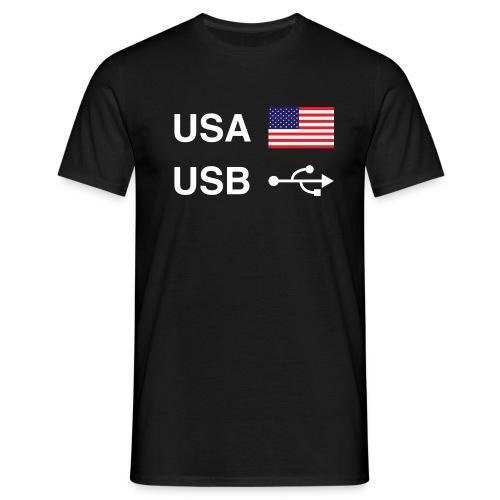 USA vs USB (Dark Colours) - Men's T-Shirt