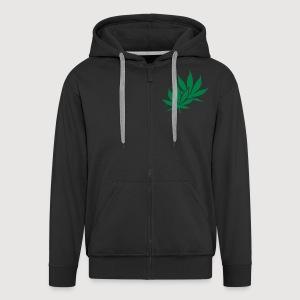 HANF | Cannabis | 2seitig bedruckt - Männer Premium Kapuzenjacke