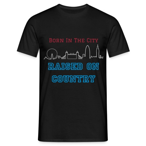 Raised On Country Black Men's T-Shirt - Men's T-Shirt