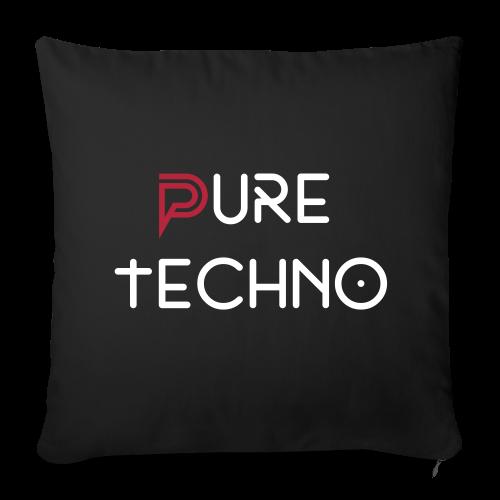 Funda de cojín negro logo terciopelo // Pure Techno - Funda de cojín, 44 x 44 cm