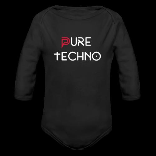 Body bebé varios colores // Pure Techno blanco - Body orgánico de manga larga para bebé