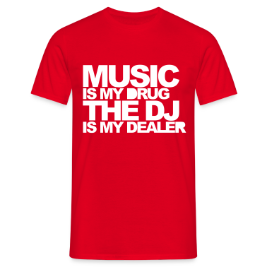Red Music Is My Drug V3 Men's T-Shirts