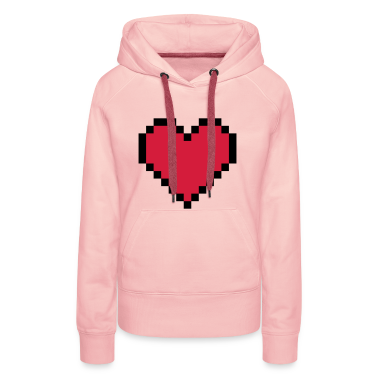 Light pink Pixel Heart Hoodies & Sweatshirts