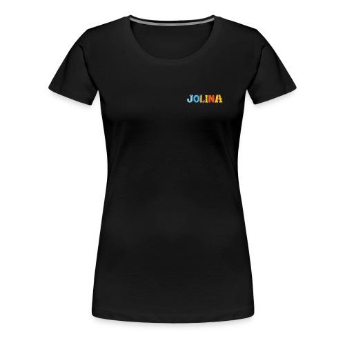 Jolina, Premium, M, schwarz - Frauen Premium T-Shirt
