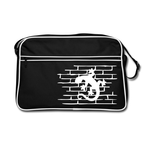 Gecko on the Wall - Retro Tasche