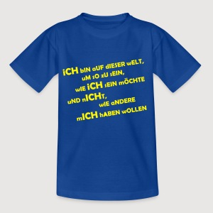 iCH bIN iCH 2 - Teenager T-Shirt