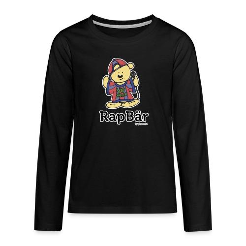 RapBär Sweatshirt   for Kids - Teenager Premium Langarmshirt