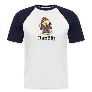 RapBär Baseball T-Shirt   preiswert - Männer Baseball-T-Shirt