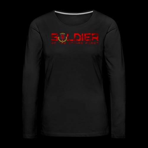 Soldier of the Strike Force Ladies' Longsleeve - Women's Premium Longsleeve Shirt