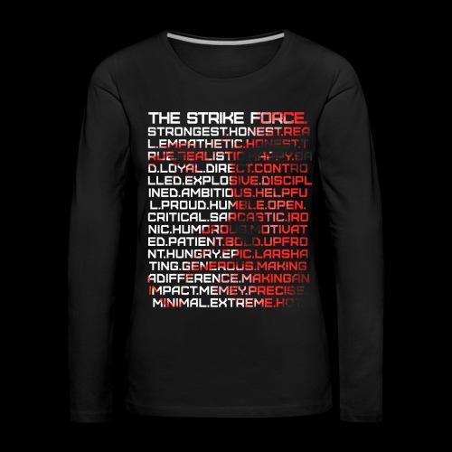 Force of many Faces Ladies' Longsleeve - Women's Premium Longsleeve Shirt