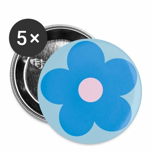 Blumen-Button - Buttons groß 56 mm