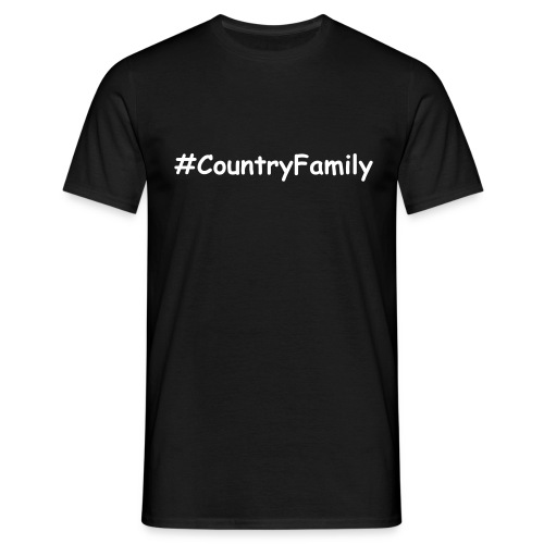 #CountryFamily Men's T-Shirt Black - Men's T-Shirt