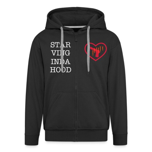 GIRLS STARVING INDA HOOD MENS HOODY - Men's Premium Hooded Jacket